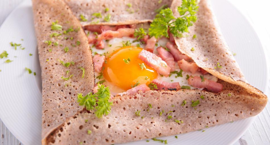 mother day brunch ham and egg crepe squares