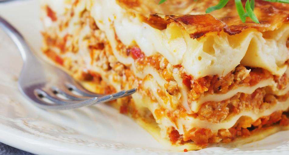 butternut portobello lasagna
